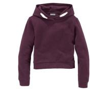 Kapuzensweatshirt in kurzer Form für Mädchen bordeaux