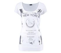 Shirt »Mit Glanzprint« weiß