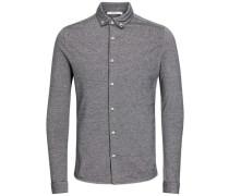 Jersey-Langarmhemd grau