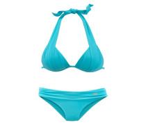 Triangel-Bikini cyanblau / neonblau