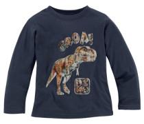 Langarmshirt mit Dinosaurier Druck für Jungen blau