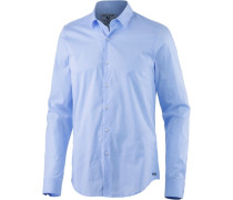 Langarmhemd Herren blau