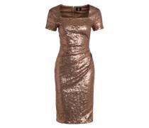 Paillettenkleid 'Candy' bronze