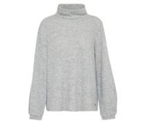 Pullover mit Stehkragen hellgrau