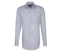 City-Hemd 'Modern' dunkelblau / weiß