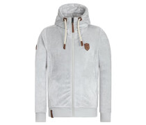Male Zipped Jacket 'Birol Mack Iii' hellgrau