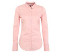 Hemdbluse im Slim Fit rosa