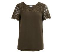 Feminine Bluse ohne Ärmel 'vimelli Blocked Lace Top' grün
