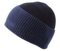 Mütze in Struktur-Mix 'Fidoo' dunkelblau