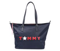 Shopper 'Poppy Tommy Star' navy / rot
