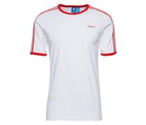 T-Shirt im Retro-Style rot / weiß