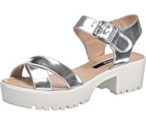 'Plex' Sandaletten silber