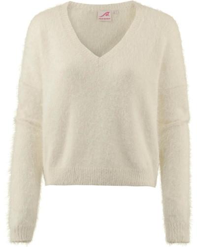 V-Pullover offwhite