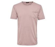 Einfarbiges T-Shirt altrosa