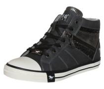 Sneaker mit Glitzerdetails graphit