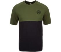 Colorblock T-Shirt Herren grün / schwarz