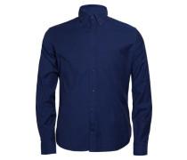 Lymann True Merino-Strickpullover blau