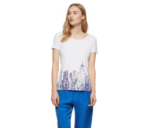 BOSS ORANGE T-Shirt mit Print weiß