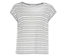 Streifenshirt 'Shime' grau / weiß