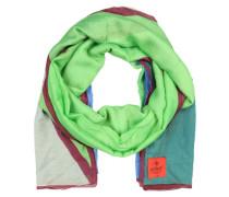 Schal mit Colourblocking mischfarben