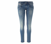 5-Pocket-Jeans »Piper slim Comfort« blau