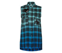 Bluse in Karo-Musterung 'Check' blau / türkis / mischfarben
