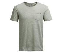 Gestreiftes T-Shirt grün