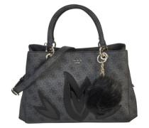 Handtasche mit floralen Applikationen 'Jaden Girlfriend' grau
