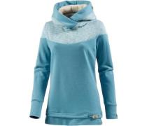 'Adina Organic' Hoodie hellblau / blaumeliert