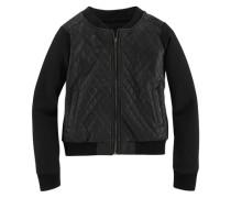 Jacke in Bikerform für Mädchen schwarz