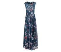 Langes Kleid 'portante' dunkelblau / mischfarben
