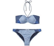 Bikini 'thdw Bandeau Bikini 18' blau / rauchblau / blue denim