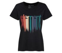 T-Shirt 'drip Crew' mischfarben / schwarz