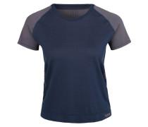 T-Shirt 'calypso' dunkelblau / grau