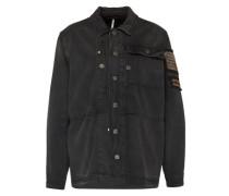 Jeansjacke mit Perlenapplikationen schwarz