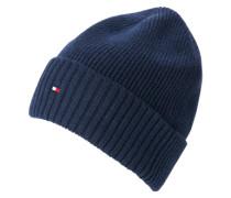 Mütze mit Kaschmir-Anteil blau