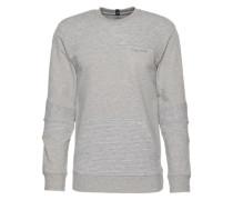 Sweatshirt in Melange graumeliert
