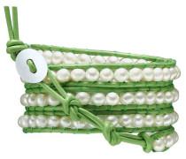 Armband grün / perlweiß