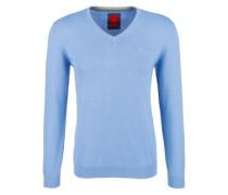 Pullover mit V-Ausschnitt blau