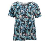 Shirt mit gelayerter Rückseite 'Olga Tropical Island' blau