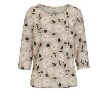 Bluse mit floralem Druck creme / cappuccino