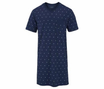 Herren Nachthemd 1/2 mit Krawattendruck
