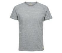 Rundhalsausschnitt T-Shirt blaumeliert