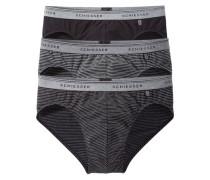 Slip (3 Stück) grau / schwarz