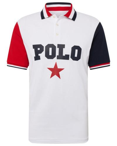Poloshirt mischfarben / weiß