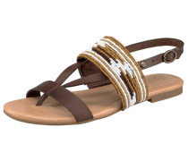 Sandale 'Verona Serape Beads' schoko