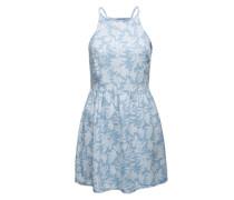 Sommerkleid in Denimoptik 'Susan' blau / weiß