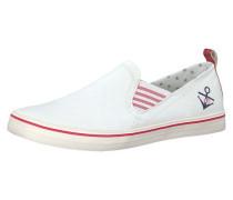 Sportliche Slipper rot / weiß