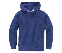 Kapuzensweatshirt für Jungen blaumeliert