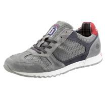 Sneaker grau / dunkelgrau / rot